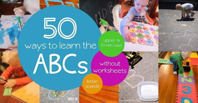 50 Alphabet Activities For Preschoolers