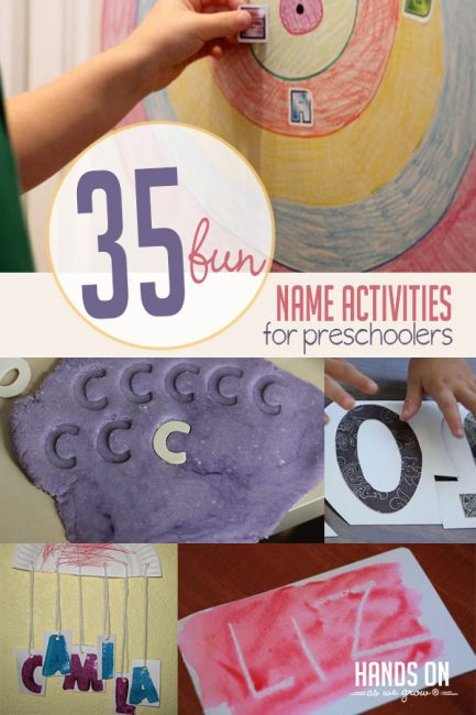 35 Fun Name Activities Perfect For Preschoolers Hoawg