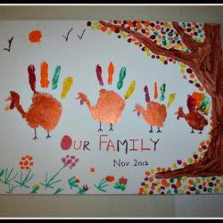 Handprint Turkey Family