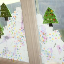Make a snowy window or one of 11 other fun snowy indoor activities