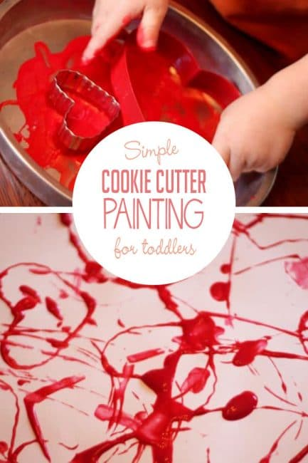 Make a fun, unique Valentine's Day art with this heart-shaped cookie cutter painting activity!