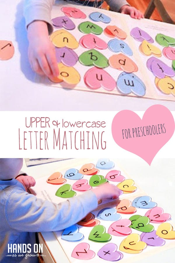 Help your child connect uppercase and lowercase letters with a fun heart matching activity. It's a great learning activity for Valentine's Day!