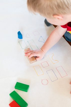 Simple Block Learning Activity with Shapes & Colors