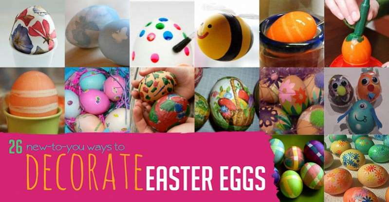 26 new ways to create decorated eggs for easter