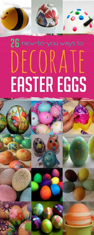 Fun new ways to decorate Easter eggs with the kids this year!