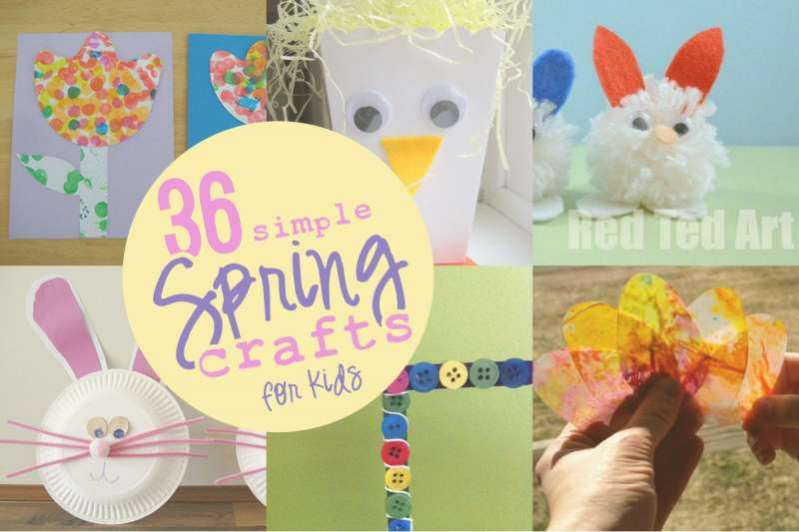 super fun and simple spring crafts for the kids to make - Spring Pictures For Kids