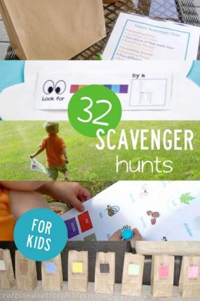 32 scavenger hunt ideas for kids!