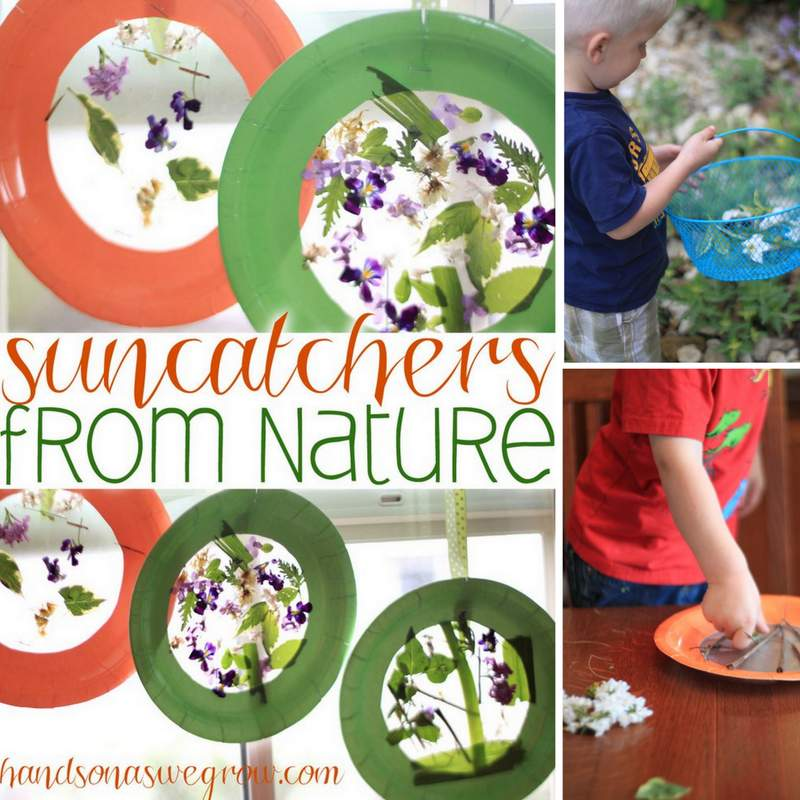 Nature suncatcher for kids to make
