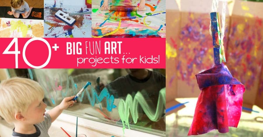 40 Big Fun Art Projects For Kids Hands On As We Grow