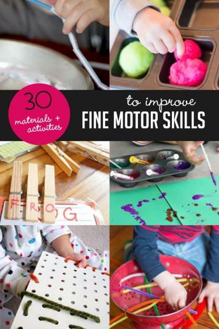 Improve Kids Fine Motor Skills with 30 Materials