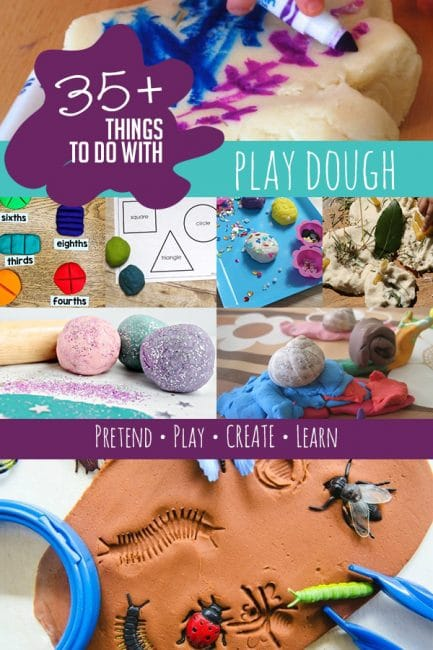 What's your favorite way to pretend, play, create and learn with play dough? Try our 30+ favorite ways to play!