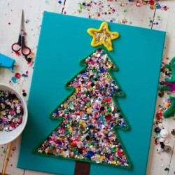 christmas tree throw back craft whatever button tree ornament - Christmas Decoration Craft Ideas