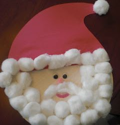 Cotton Ball Santa Craft