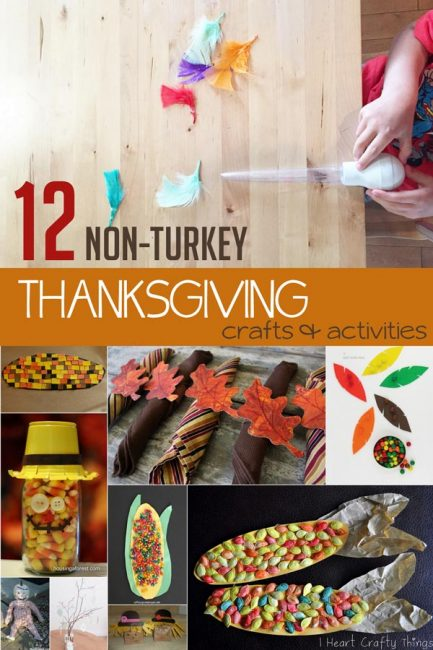 Some thanksgiving crafts for kids to make and activities for kids to do that aren't turkeys!