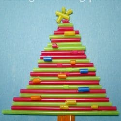 straw christmas tree craft - Easy Christmas Tree