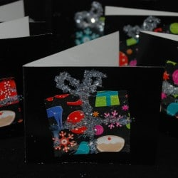 Recycled Wrapping Paper Cards