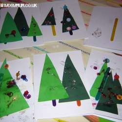 Toddler Made Christmas Tree Cards