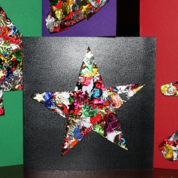 Sequined Homemade Christmas Card