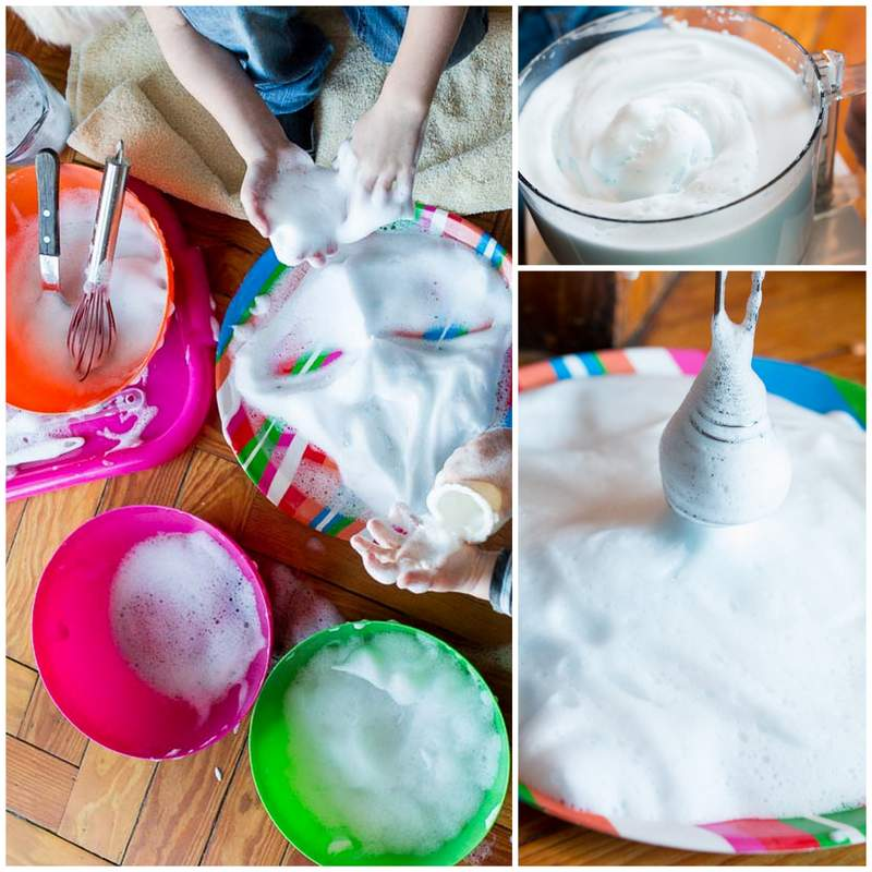 Soapy Sensory Foam Activity For Kids
