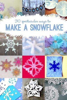 Make a Snowflake Craft! 30 Ideas to Make Snowflakes