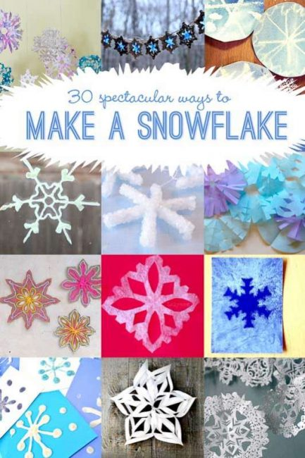 30 Ideas To Make A Snowflake For Materials Cut Them Out Of Plus