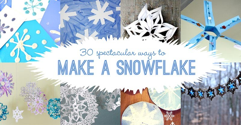 30 Ideas amp Ways To Make A Snowflake Hands On As We Grow