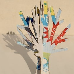 Cardboard Winter Tree Craft - 1 of 28 Winter Crafts for Kids