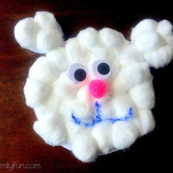 Cotton Ball Polar Bear Little Family Fun
