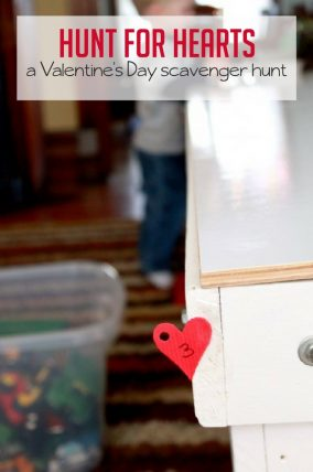 Hunt for hearts and numbers with a fun Valentine's Day scavenger hunt