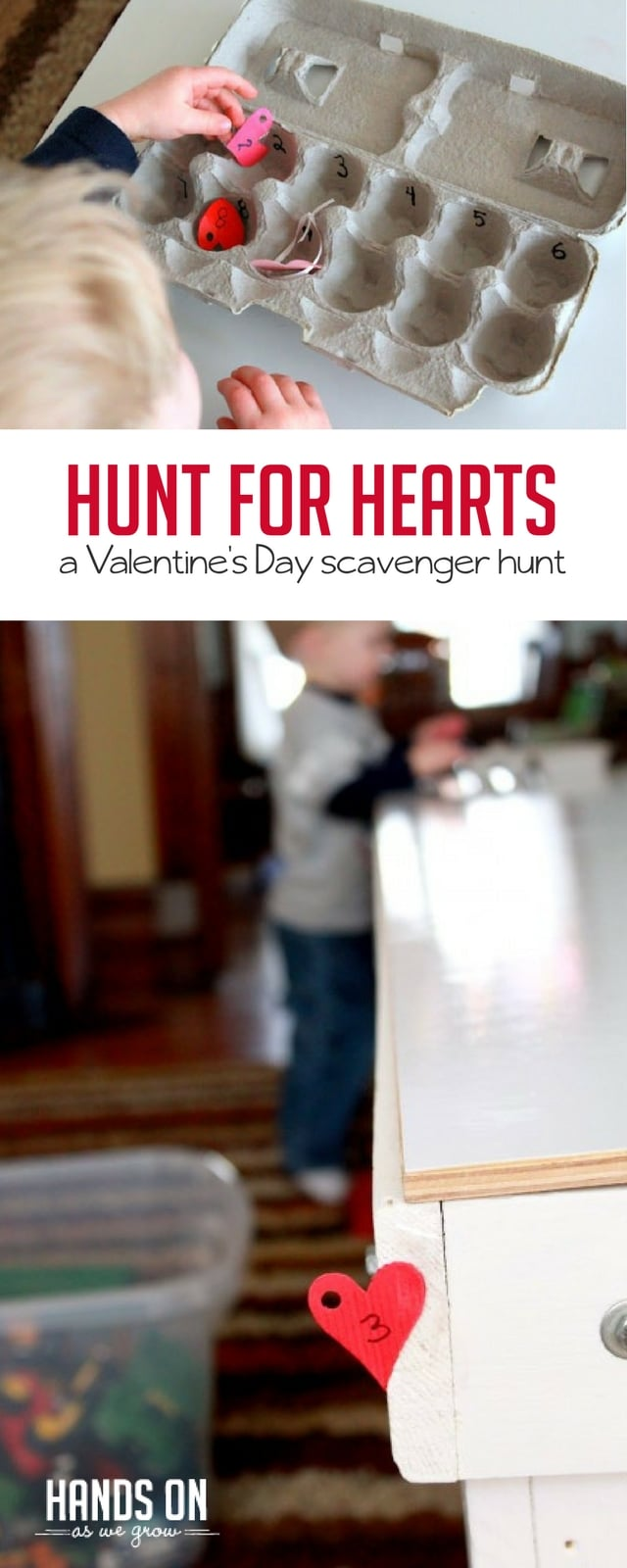 Practice number recognition with a fun and adaptable Valentine's Day scavenger hunt!