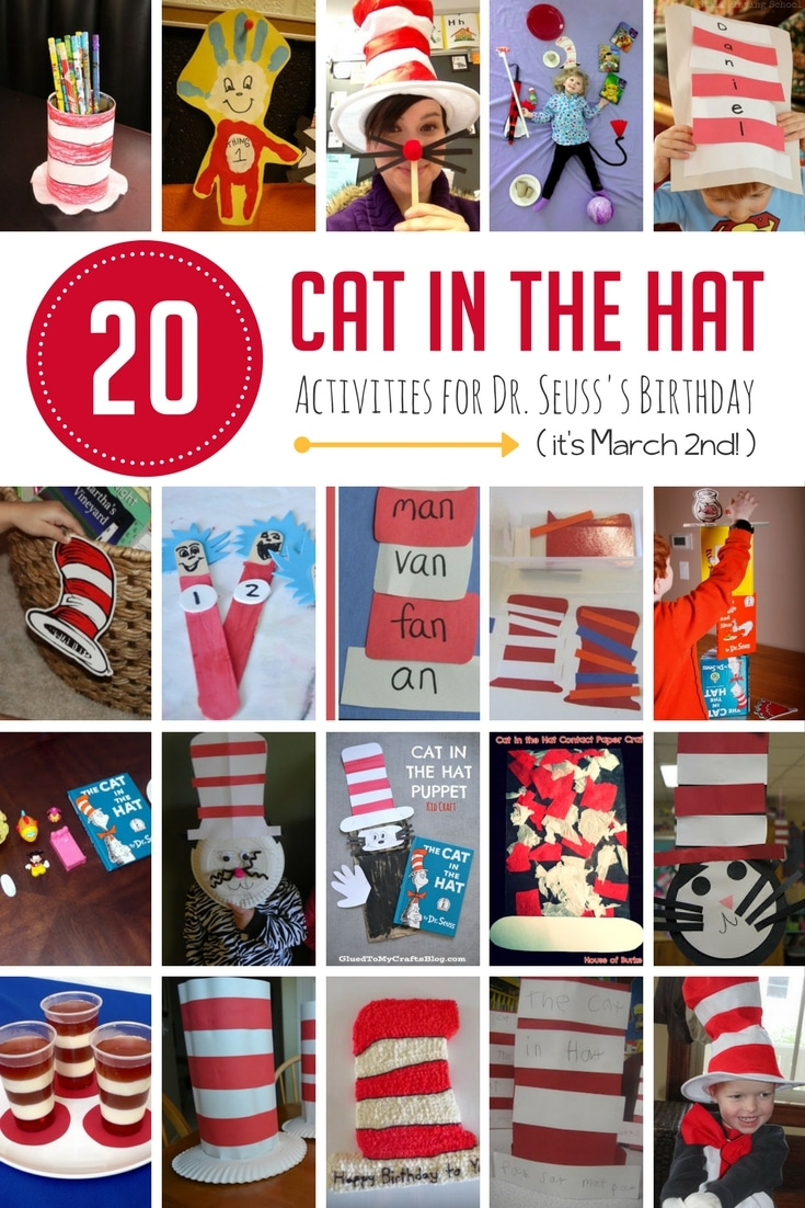 graphic about Cat in the Hat Hat Printable titled 20 Cat inside the Hat Functions toward Rejoice Dr. Seusss Birthday