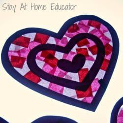 Tint your world pink with a tissue paper suncatcher from the Stay at Home Educator