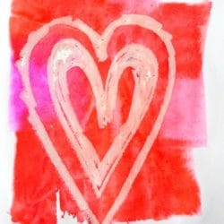 Craft Whack shares their tissue paper heart craft