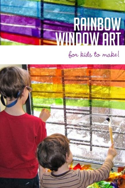 Gorgeous Rainbow Window Art For Kids To Make Hoawg
