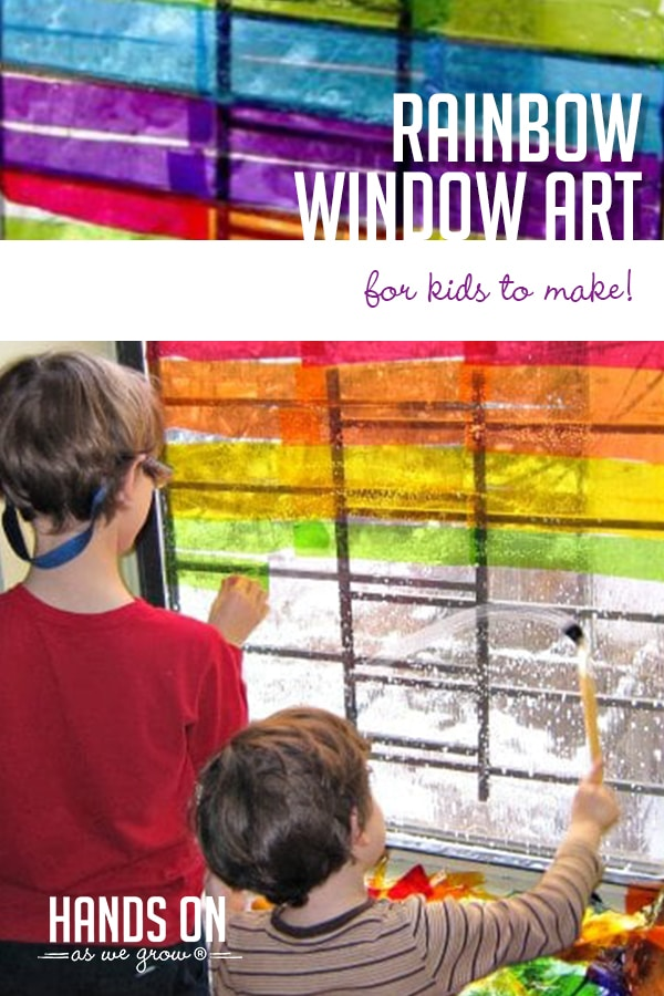Create your own custom rainbow windows with a few simple materials! It's an easy (slightly messy) indoor activity to enjoy with your kids!