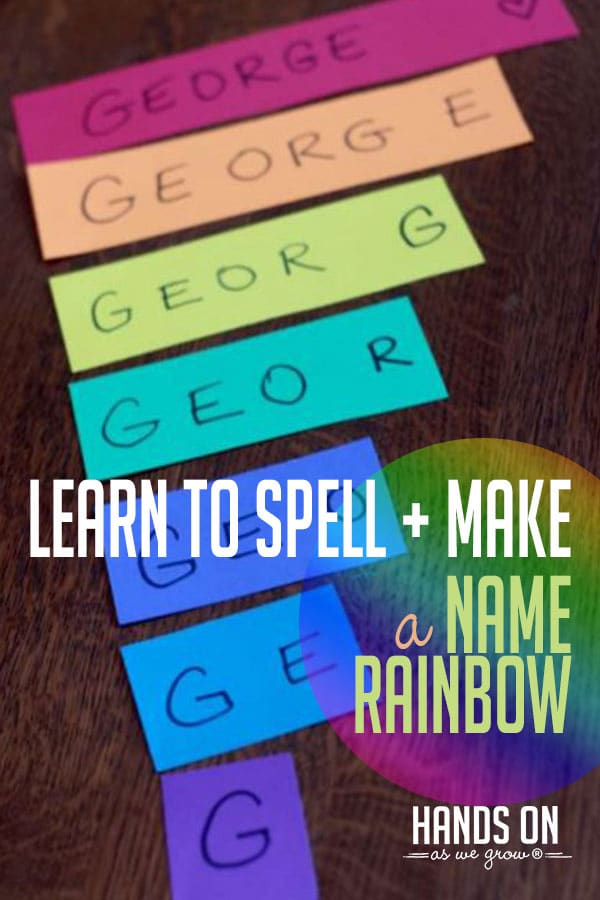 Make a rainbow and build your child's name! You'll love this easy learning activity!