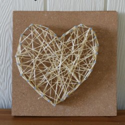 Make a cute string art heart from How Wee Learn