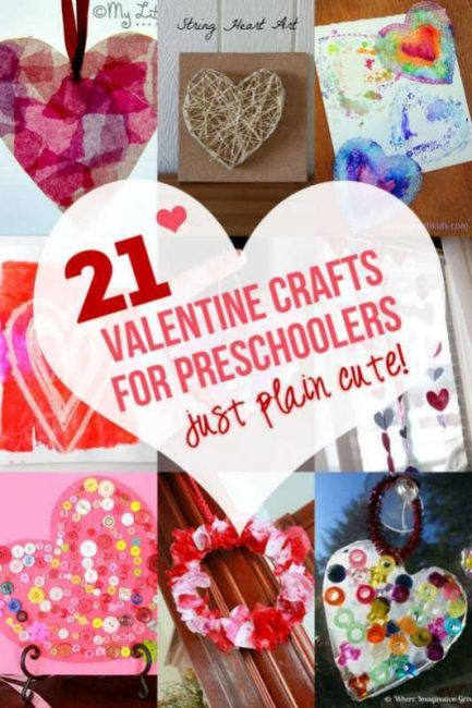 21 of the best valentine crafts for preschoolers for Valentine crafts for kindergarteners