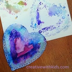 These heart doilies from Creative with Kids are the perfect way to experiment with color