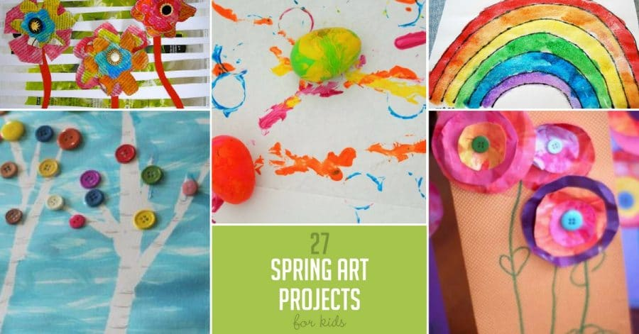 Featured 5 Spring Projects: 27 Colorful Spring Art Projects For Kids- Hands On : As We