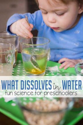 Discover what dissolves in water with this easy experiment for preschoolers!