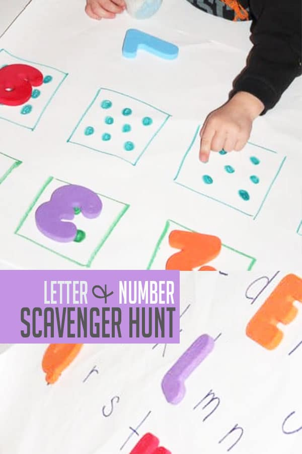 94cbc185ed0 Fun Scavenger Hunt for Preschoolers to Learn Letters   Numbers
