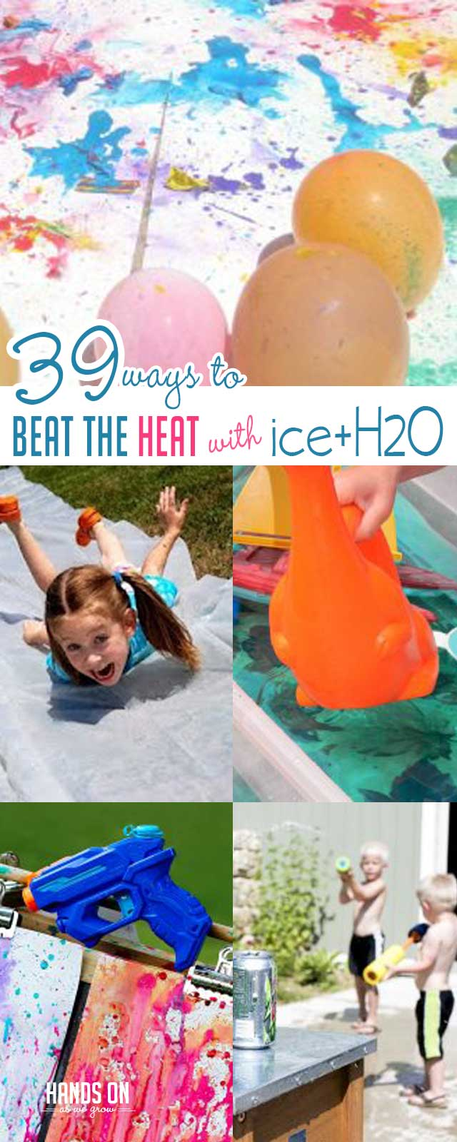 Your kids will love these 39 super simple ways to beat the heat with ice, water, and sweet treats!