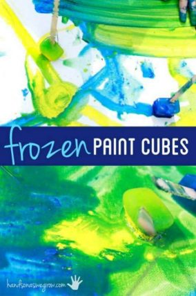 Paint with frozen paint on a super hot day! Fun and creative way to beat the heat!