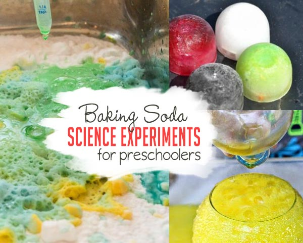 Check out these super fun baking soda science experiments for preschoolers!