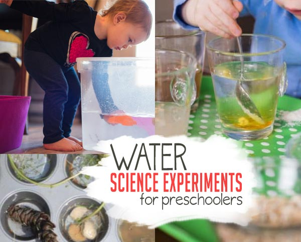Try these fun science experiments for preschoolers that use water!