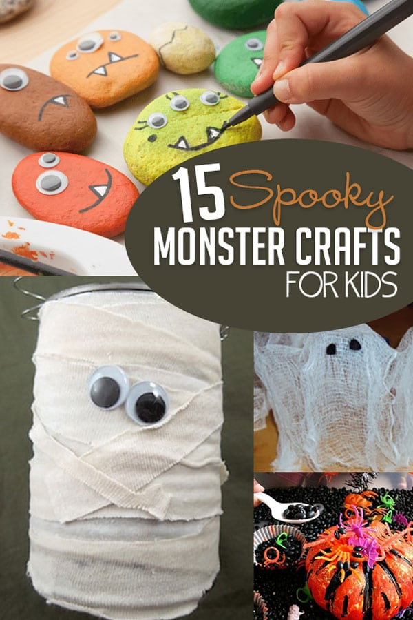 15 Spooky Halloween Monster Crafts For Kids Hoawg