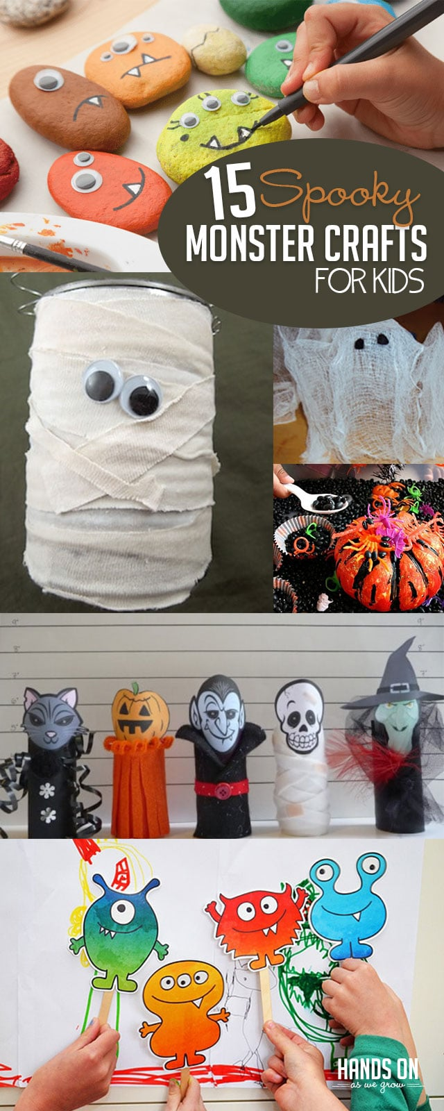 15 spooky halloween monster crafts for kids | hoawg