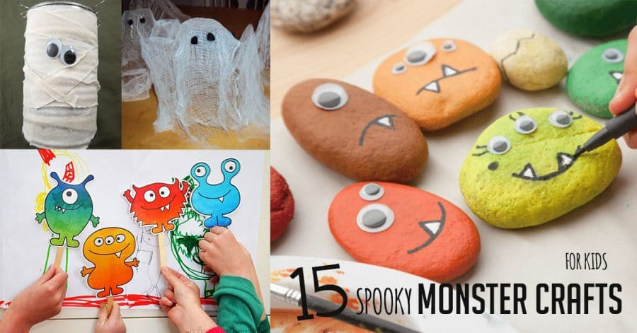 15 Spooky Halloween Monster Crafts For Kids Hoawg