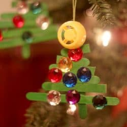 popsicle stick tree - Christmas Ornament Craft